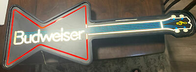 $ CDN362.86 • Buy Budweiser Guitar Neon Sign Light Collectible Bar Beer