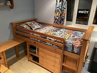£200 • Buy Julian Bowen Cabin Bed With 2 X Under Bed Units And 4+2 Chest Of Drawers