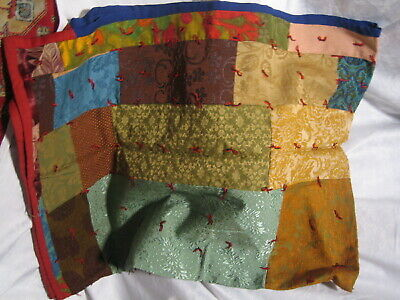 AU51.51 • Buy VINTAGE 50s 60s PATCHWORK SOFA COUCH TAPISTRY PIECE MCM TROW BLANKET 77 X 56 In