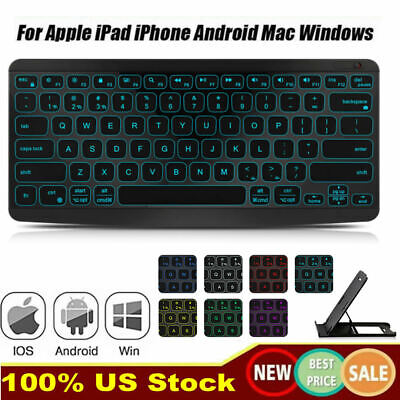 $18.16 • Buy Rechargeable LED Wireless Bluetooth Keyboard For MAC IOS Android PC IPad Tablet