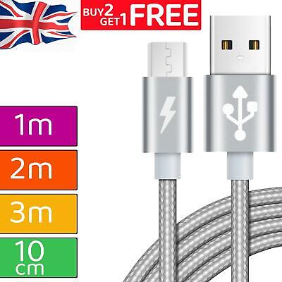 £2.49 • Buy Long Braided Fast Charge Phone Charger Charging Micro USB Sync Data Lead Cable