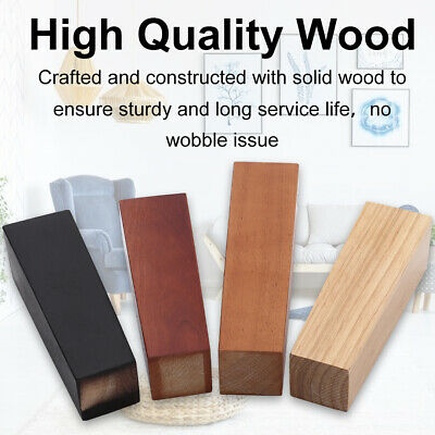 £10.74 • Buy 4 Wooden Furniture Square Tapered 10/16/20CM Feet Legs For Bed Stools Sofa Chair