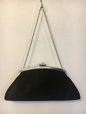 £6 • Buy NEXT, Black Fabric Diamond Clasp Optional Chain Handle/Clutch Party Bag. New