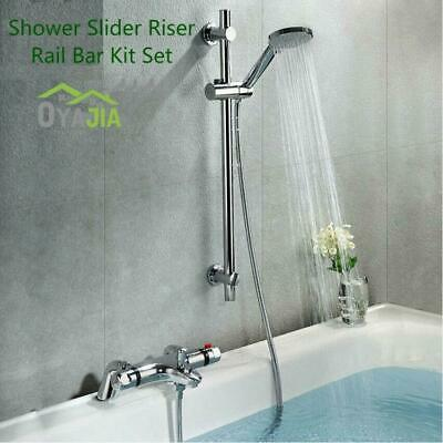 £16.99 • Buy Chrome Bathroom Bath Shower Mixer Tap With Slider Shower Rail Kit Wall-mounted