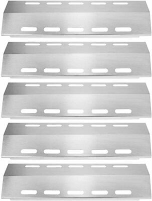 $ CDN71.30 • Buy Barbecue Heat Plate Stainless Steel Gas Grill Burner Flame Cover Durable 5 Pack