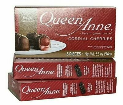$7 • Buy Chocolate Covered Cherries Queen Anne Cordial Cherries 3 BOXES