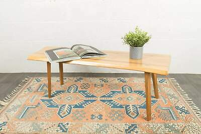 £180 • Buy Yew Solid Planked Coffee Table Vintage Mid Century