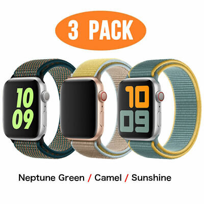 AU20.99 • Buy 3 PACK Nylon Sport Band Strap For Apple Watch Series 6 5 4 3-1 40/44mm IWatch SE