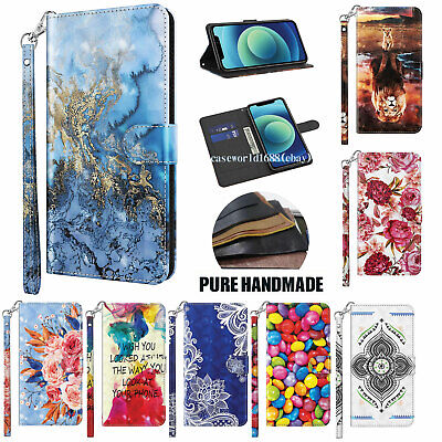 $4.88 • Buy 3D Pattern Leather Card Wallet Case For Samsung A10-A70 A02S A11-A91 A32-A72 A01