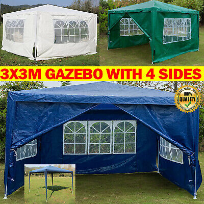 £70.80 • Buy Gazebo With Sides 3x3m,Outdoor Waterproof Gazebo Canopy Camping Tent  Shelter