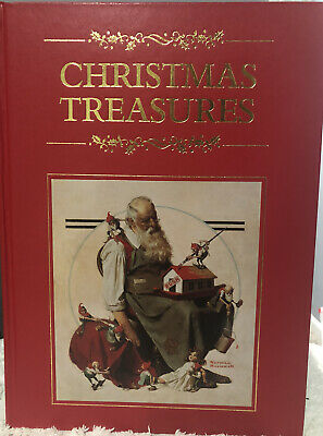 $ CDN22.75 • Buy Christmas Treasures Book Color Plates Norman Rockwell Gold Edge Pages