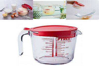 £11.99 • Buy Pyrex Classic Glass Measuring Jug Mixing With Lid Prep Ware High Resistance 1L