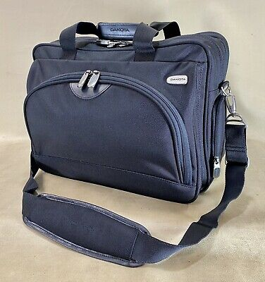 """$ CDN151.15 • Buy Preowned Dakota By Tumi Black 16"""" Expandable Carry On Overnighter Briefcase"""