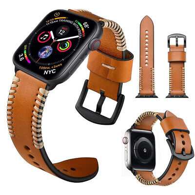 AU19.88 • Buy Genuine Leather Band Strap For Apple Watch Series 6 SE 5 4 3 2 1 40/44mm 38/42mm