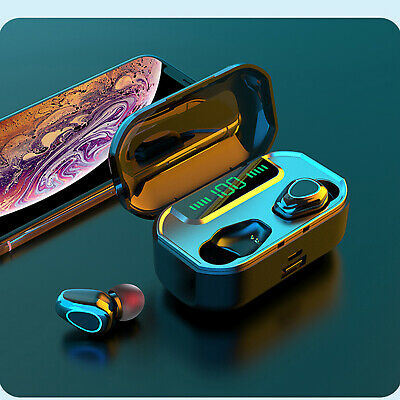 $ CDN20.61 • Buy 5.0 Wireless Bluetooth Earbuds Stereo Noise Reduction Headsets For IPhone 8 7 6S