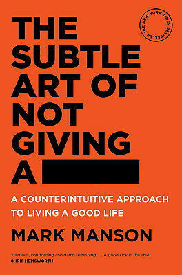 AU24.99 • Buy BRAND NEW The Subtle Art Of Not Giving A Fck F*ck F * Ck Fuck FAST FREE SHIPPING