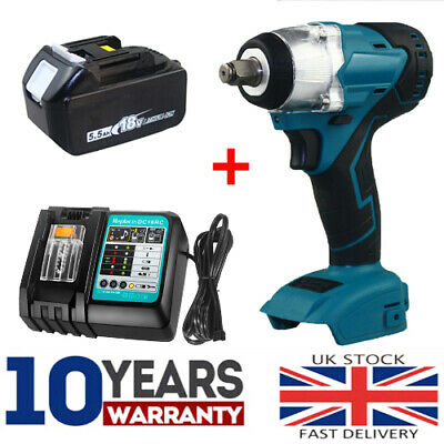 £45.98 • Buy Cordless Impact Wrench For Makita DTW285Z Brushless 1/2  18V Li-ion Body/Charger