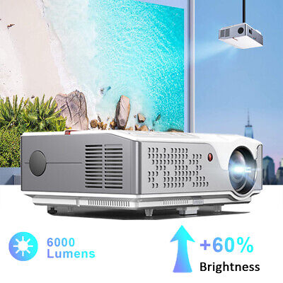 AU599 • Buy 6000 Lumen 1080P FULL HD Video Projector 4K 300  Max 4 Home Office Party Gaming