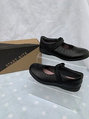 £17 • Buy Girls Startrite Mary Jane Black Leather School Shoes Size 1F