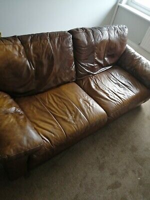 £75 • Buy  Sofa , Chair And Foot Stool