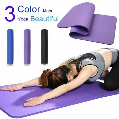 AU18.99 • Buy 10MM NBR Thick Yoga Mat Pad Nonslip Exercise Fitness Pilate Gym Durable TPE 6mm