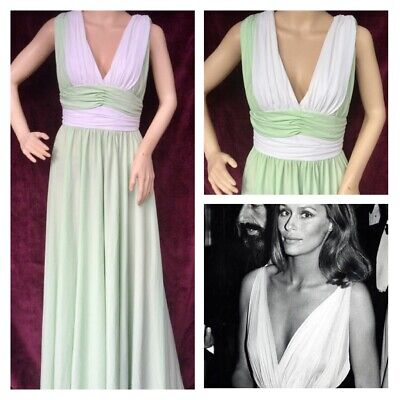 £17.99 • Buy Vintage Mint Green Grecian Cocktail Dress From After Six By Ronald Joyce 10/12