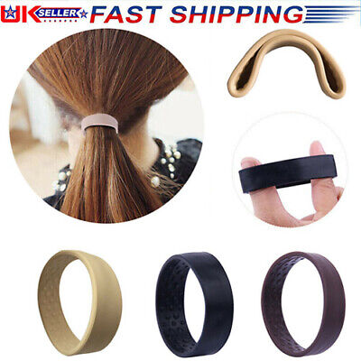 £3.59 • Buy One Wide Pony Band Clip New Wide Pony Hair Band Dark Chocolate Hair Tie Band New