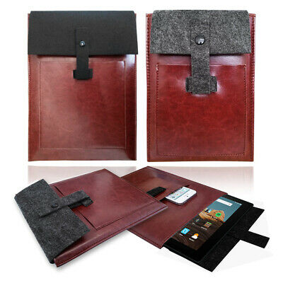 £5.95 • Buy Vintage Leather Travel Case Cover Sleeve Bag For AMAZON KINDLE FIRE Tablets
