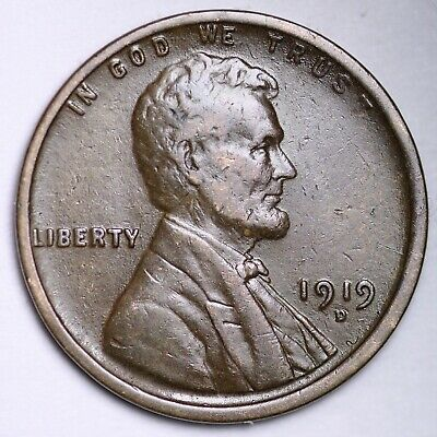 $ CDN1.52 • Buy XF 1919-D Lincoln Wheat Cent Penny FREE SHIPPING