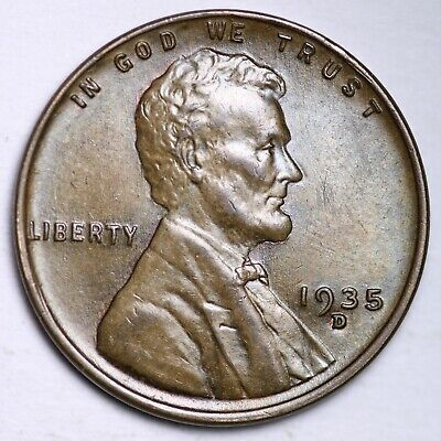 $ CDN1.20 • Buy UNCIRCULATED 1935-D Lincoln Wheat Cent Penny FREE SHIPPING
