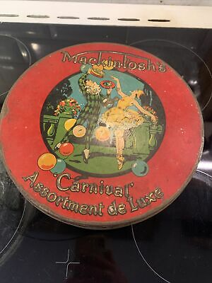 £41 • Buy Mackintosh's Carnival Toffee Tin Lithograph Advertising Pictorial Halifax