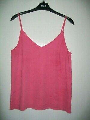 £0.99 • Buy Ladies Coral Pink Camisole Top Size 10 From Oasis