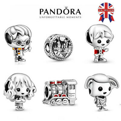 £8.88 • Buy New Authentic Pandora Harry Potter Dobby Hermione Ron Weasley Charm Uk + Pouch