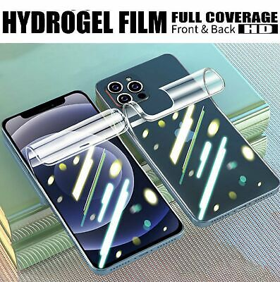 AU15.99 • Buy 2x Front + 2x Back Hydrogel Screen Protector Film For IPhone 12 Pro Max 11 Pro X