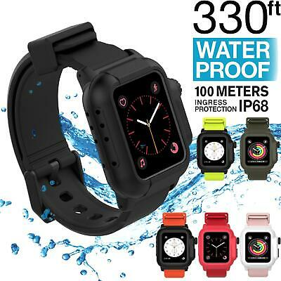 AU28.88 • Buy IP68 Waterproof Full Body Rugged Band Case For Apple Watch Series 6 SE 5 4 3 2