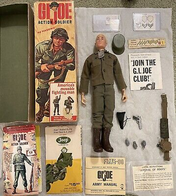 $ CDN394.27 • Buy VINTAGE GI JOE SOLDIER EARLY TRIPLE TM BOX With Extras And A Cloth Medic Pack