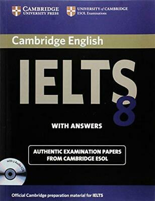 £9.06 • Buy Cambridge IELTS 8 Self-study Pack (Student's Book With Answers And Audio CDs (2)