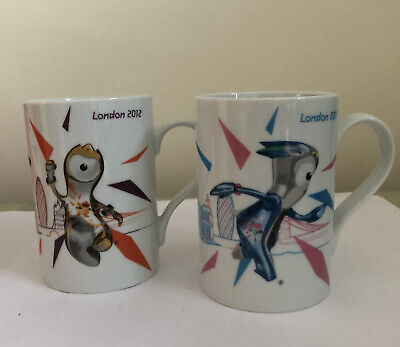 £5 • Buy London 2012 Official Merchandise Mugs X 2 Wenlock Mandeville Pair