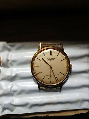 $ CDN197.83 • Buy Vintage Longines Automatic 18k Gold Mens Watch Work Well