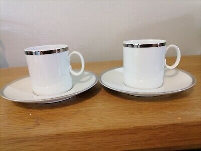 £3.99 • Buy Expresso Coffee Cup And Saucer Set Of 2