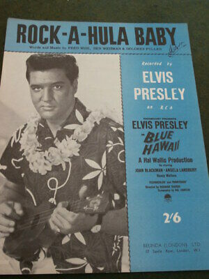 £11 • Buy Elvis Presley Sheet Music  Rock-A-Hula Baby  For Piano From Blue Hawaii.