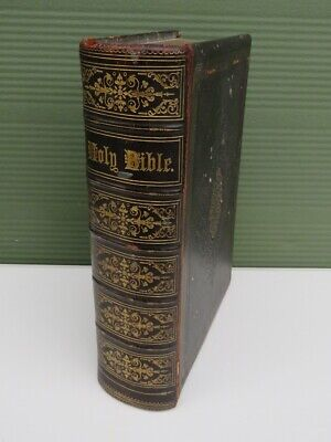 £135 • Buy Cassell's Illustrated Family Bible, Antique Victorian, Leather With Engravings