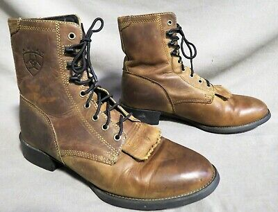 $ CDN14.56 • Buy Mens Ariat Brown Leather Packer Roper Cowboy Hiking Work Boots Sz 8.5 D