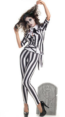 $ CDN77.58 • Buy Womens Graveyard Ghost Costume, Womens Beetle Juice Costume