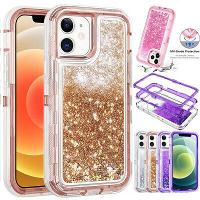 AU17.29 • Buy For IPhone 12 11 Pro XS Max XR X 8 Girl Bling Glitter Liquid Sand Quicksand Case
