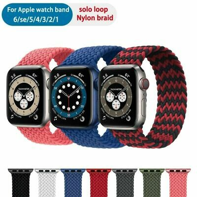 AU5.95 • Buy Nylon Braided Solo Loop Strap Band For Apple Watch Series SE 6 5 4 3 38/40/44 MM