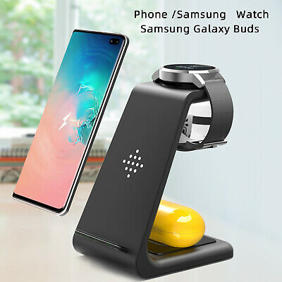AU39.59 • Buy 3 In 1 Wireless Charger Dock Charging Station For Samsung Watch Galaxy S20 S10+