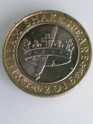 £2.50 • Buy 2016 £2 Two Pound Coin William Shakespeare History Crown And Sword Circulated