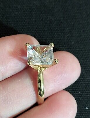 £7.99 • Buy Vintage Style Jewellery White Gemstone Ring 18K Gold Plated