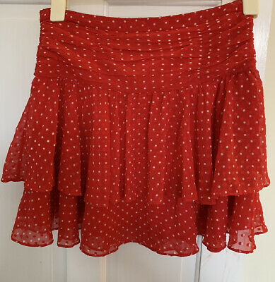£2.34 • Buy & Other Stories Mini Skirt Red Polka Dot Size 38 Y2K